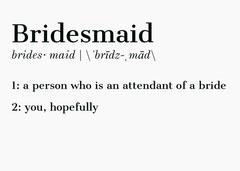 white literary bridesmaid invitation Will You Be My Bridesmaid Card