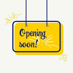 Yellow Navy Opening Soon Sign Instagram Square  Opening Soon