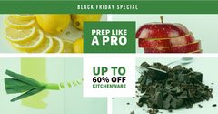 Green and White Black Friday Facebook Advertisement Black And White