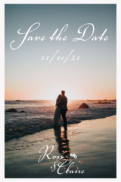 Couple Beach Save the date Postcard Couple