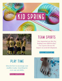 Colorful Kid Stuff Newsletter Newsletter Examples