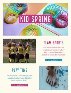 kid stuff newsletter Sports