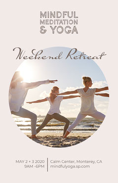 Pastel Browns Meditation & Yoga Retreat Poster Earth