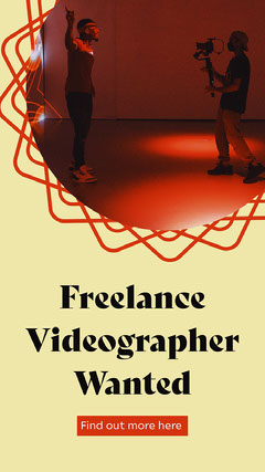 Freelance Videographer Wanted Career Poster