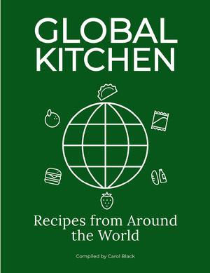 Green Minimal Cook Book Cover portada de libro de cocina