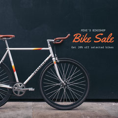 Orange and Black Bike Sale Social Post Bike
