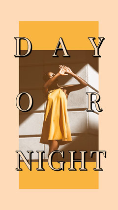 Yellow and White Day Or Night Instagram Story Dress
