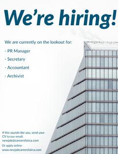 we're hiring building poster Now Hiring Flyer