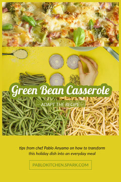 Yellow and Green Bean Casserole Food Recipe Pinterest Graphic Chef