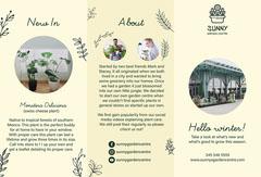green yellow garden centre winter collection brochure  Garden