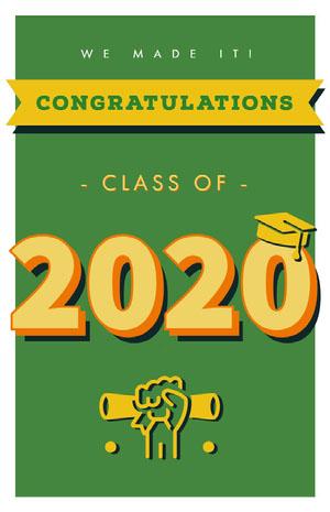 2020 Cartão de graduação