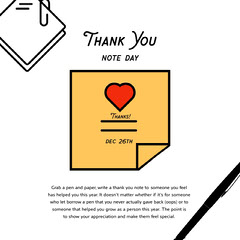 national thank you note day instagram  Thank You Poster