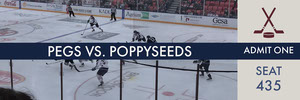 Pegs vs. poppyseeds  Ticket