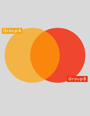 red and orange Venn diagram  Venn Diagram