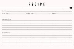 Minimalist Recipe Card Recipes