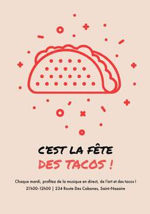 C'est la fête des tacos! Invitation