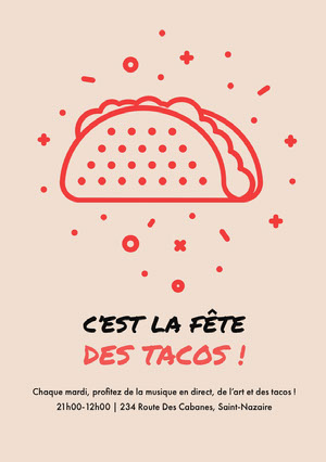 C'est la fête des tacos! Invitation à une fête