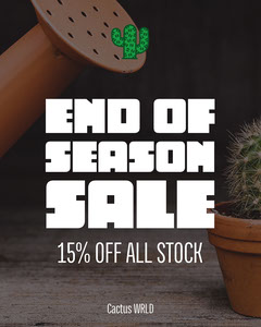 End of season sale Discount