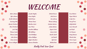 Pink Polka Dot Wedding Seating Chart Wedding Seating Charts