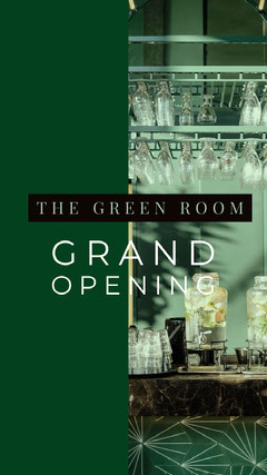 White and Green Grand Opening Social Post Grand Opening Flyer