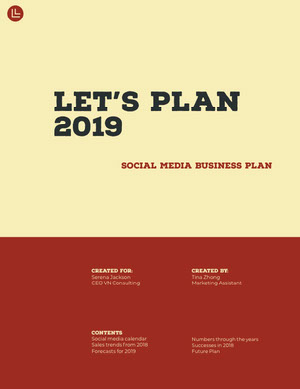 Yellow and Red Social Media Business Proposal Business Plan