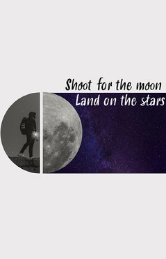Shoot for the Moon Poster Galaxy