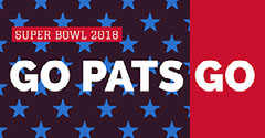 New England Patriots Fan Super Bowl Social Media Post Graphic Super Bowl