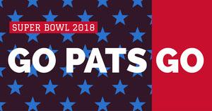 New England Patriots Fan Super Bowl Social Media Post Graphic Super Bowl