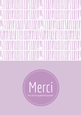 lavender thank you cards  Carte de remerciement