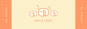 Orange and Yellow Cheese Raffle Ticket Billet de tombola