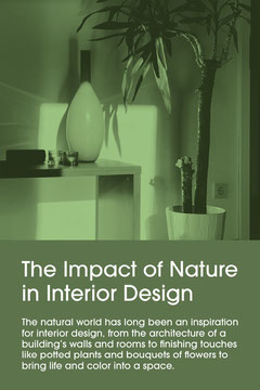 Monochromatic Green Interior Photo Natural Interior Design Pinterest Graphic Interior Design
