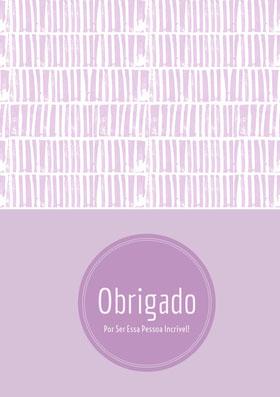 light purple textured thank you cards  Cartão de agradecimento