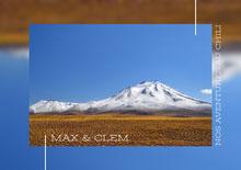 Blue Sky And Snowy Mountains Chile Travel Album Cover Couverture de livre