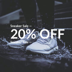 Black and White Shoe Sale Ad Instagram Post Shoes