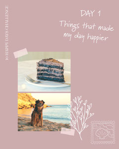 Things That Made My Day Happier Instagram Portrait Collage Cakes
