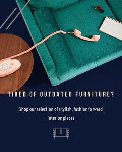 Green and Navy Blue Furniture Shop Flyer House For Sale Flyer