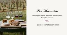 Black and Cream Minimal Beaujolais Party Invitation Facebook  Couverture Facebook