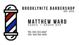 Modern White Barber Business Card Biglietto da visita