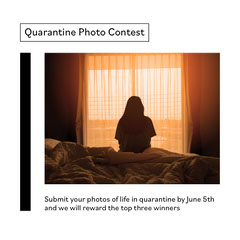 Minimal Photo and Text Collage Contest Annonucement Contest