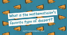 Blue and Orange Patterned Math Jokes Facebook Banner  Portada de Facebook