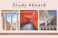 Study Abroad Postcard with Collage Japan
