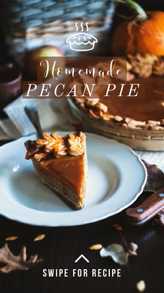 Brown Pecan Pie Winter Recipe Instagram Story Recipes