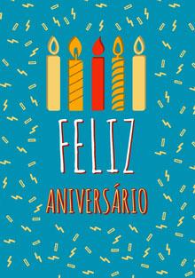confetti and candles birthday cards  Cartão de aniversário