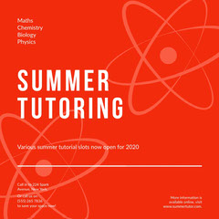 Summer Tutor Tutor Flyer