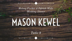Brown Rustic Wood Wedding Place Card Rustic Wedding Invitation