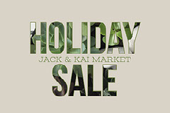 Grey and Green Holiday Sale Shop Flyer Holiday Sale