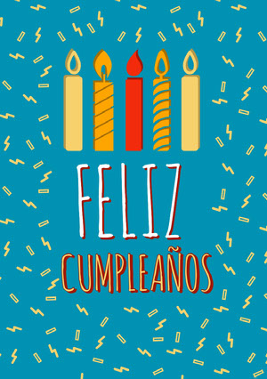candles and confetti birthday cards  Tarjeta de cumpleaños