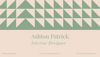 Pink and Green Interior Designer Business Card Käyntikortti