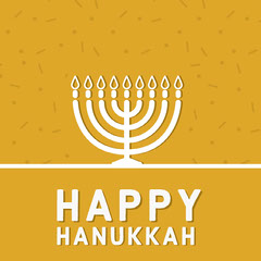 Yellow and White Happy Hanukkah Instagram Post Hannukkah