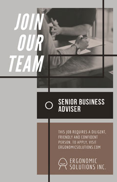 Gray and Brown Business Open Position Job Poster Job Poster